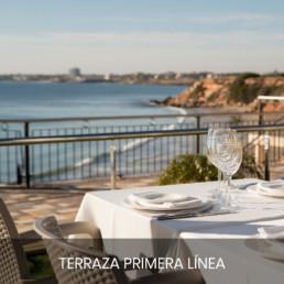 vistas primera linea terraza restaurante punta prima