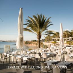vistas desde segunda linea de la terraza del restaurante punta prima